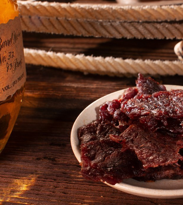 closeup of Big Country Smokehouse jerky