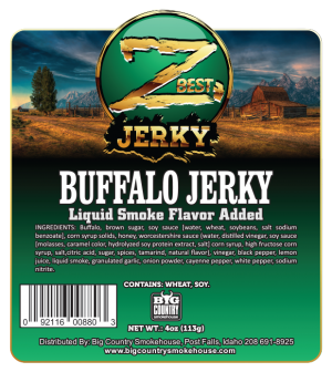 4oz Buffalo Jerky label - front